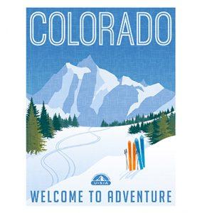 winter park vintage poster